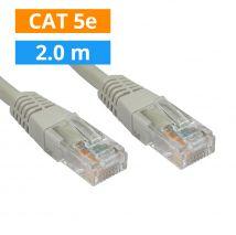 CAT5E Patch kabel 2m Grijs
