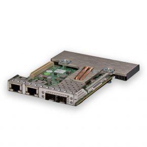 Dell Intel X520/i350 2x SFP+ 10Gbps, 2x RJ45 1Gbps Daughter card, P/N: C63DV, 0C63DV, 669869-004