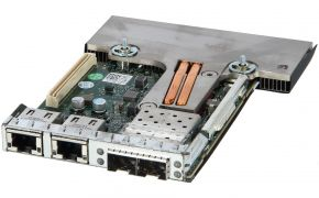 Dell Broadcom 57800S 2x SFP+ 10Gbps, 2x RJ45 1Gbps Daughter card MT09V, 0MT09V