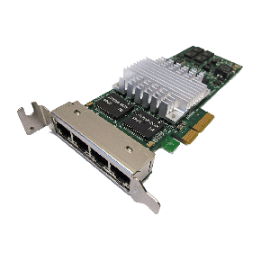 HP NC364T Quad Port Gigabit Ethernet controller Low Profile P/N: NC364T, HSTNS-BN26, 435508-B21, 436431-001, 435506-003