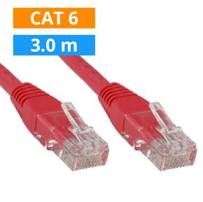 CAT6 Patch kabel 3m Rood
