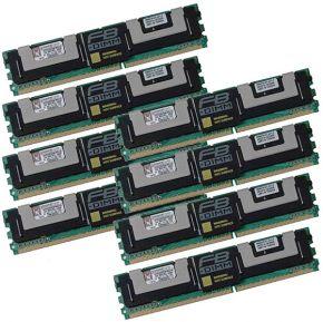 64GB KIT (8x 8GB) 2Rx4 PC2-5300F DDR2-667 ECC Kingston KTH-XW667/64G